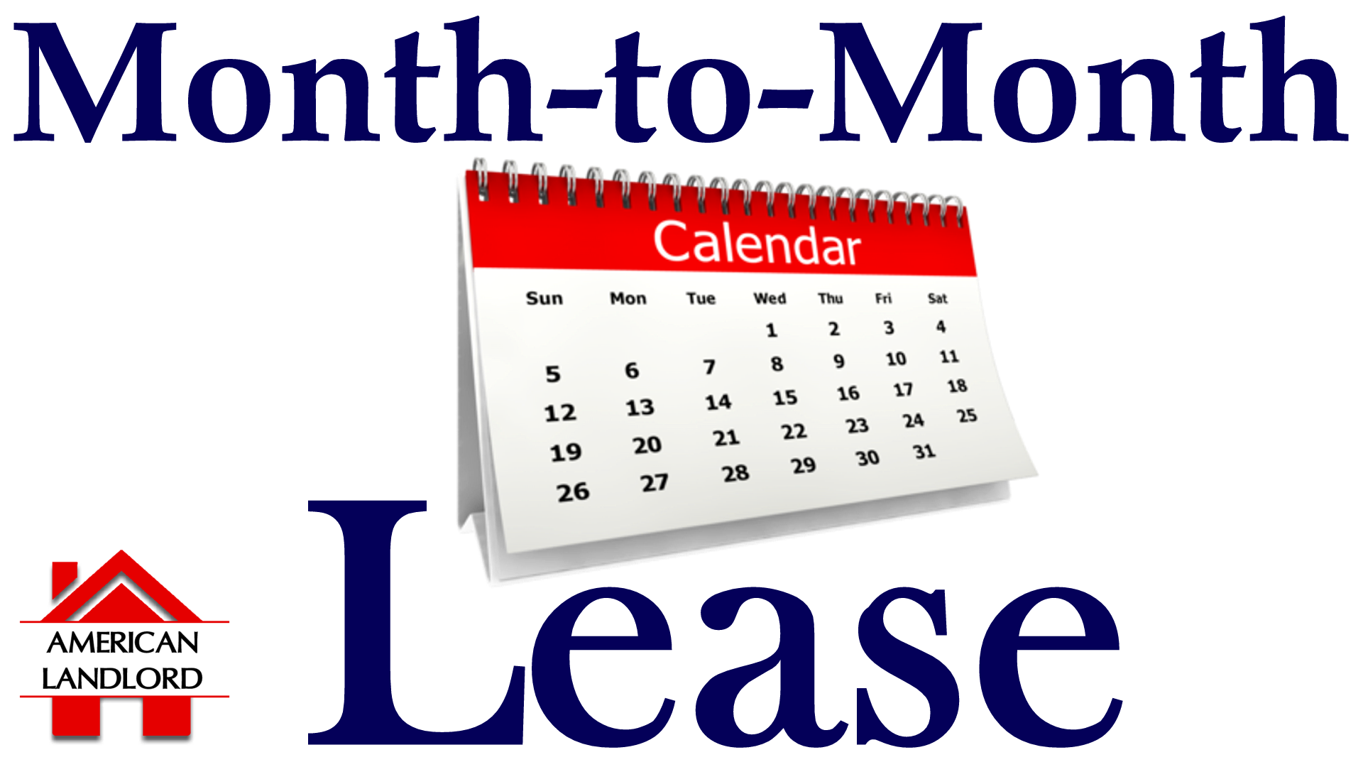 Terminating Month to Month Lease