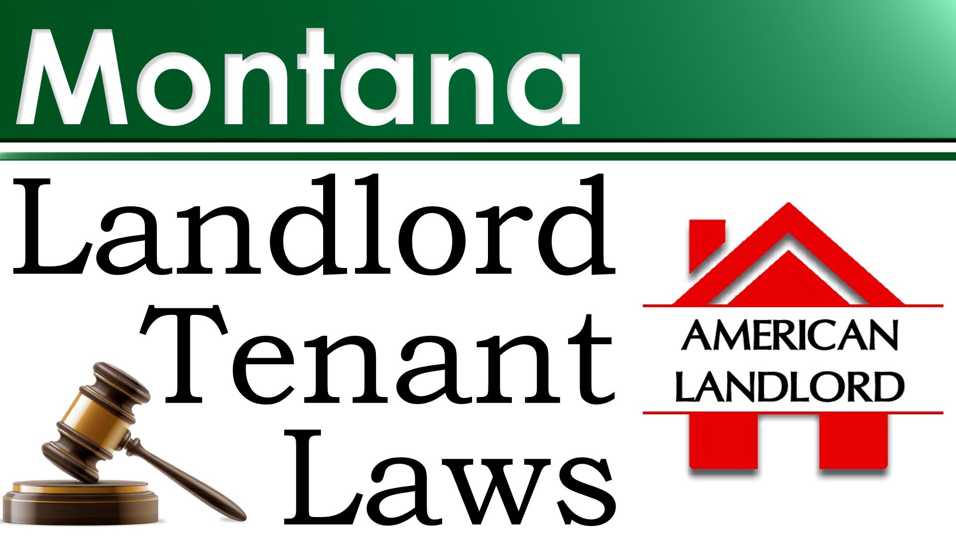 Montana landlord tenant law