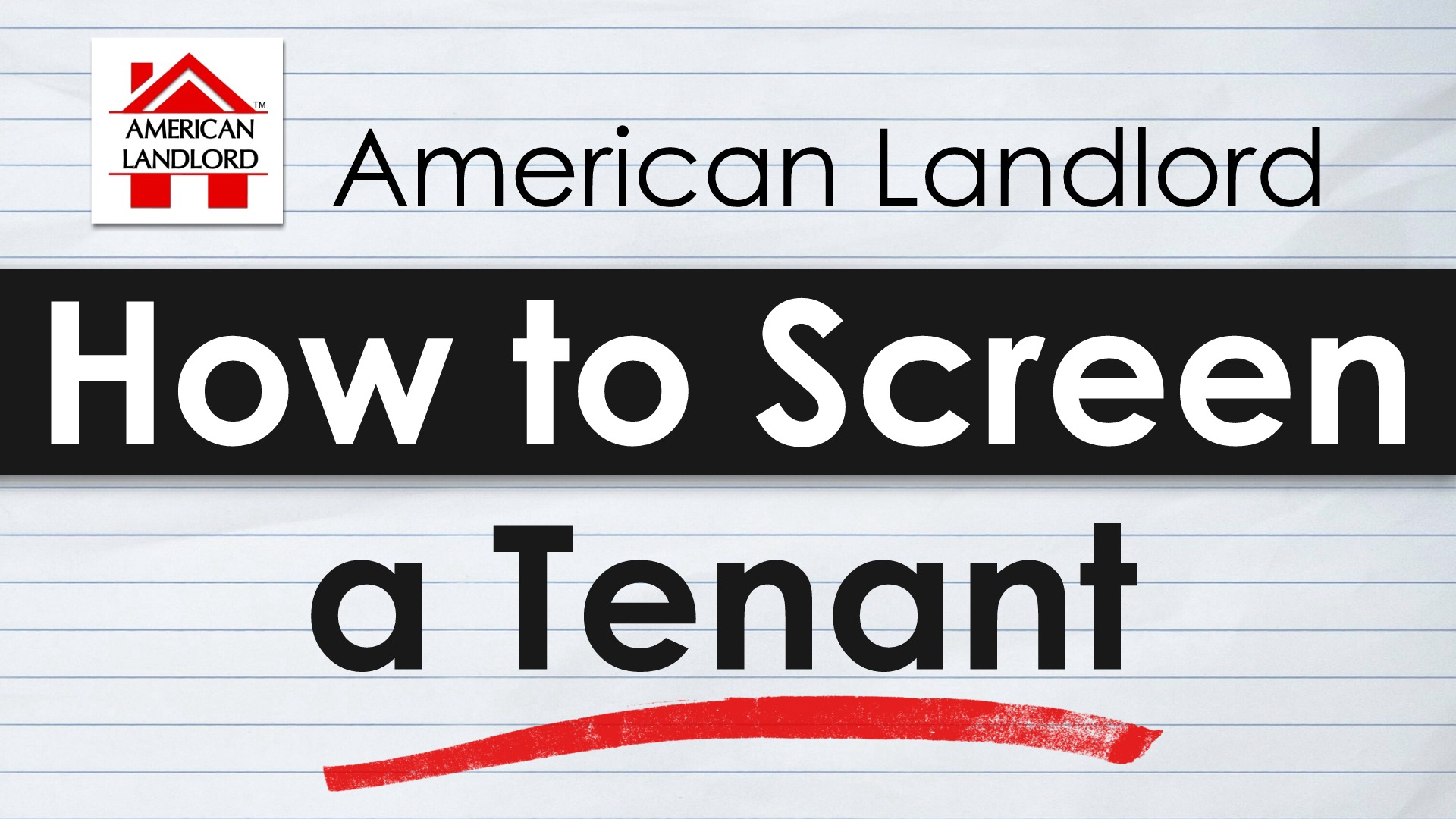 How to Screen a Tenant