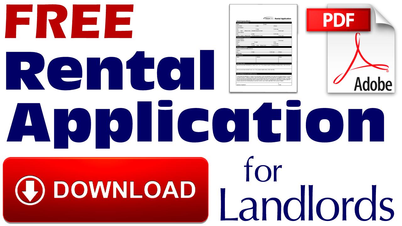 Free Rental Application Download
